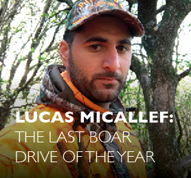 News: Lucas Micallef the last boar drive of the year