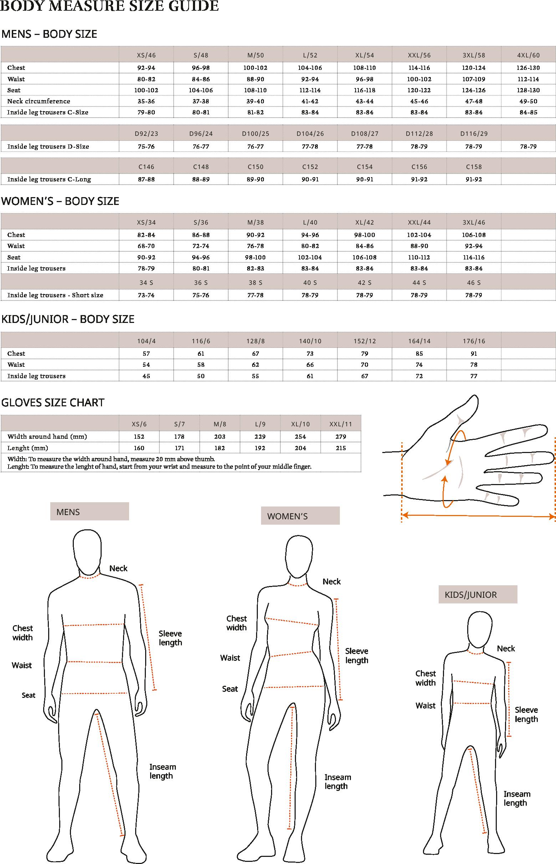Size Guide 2019 Page 1 EN