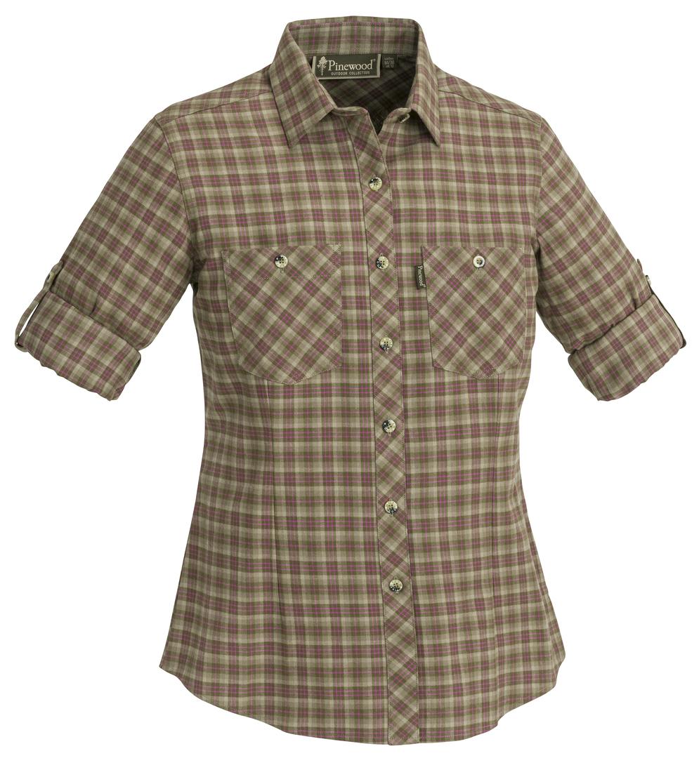 Women S Flannel Shirt Pinewood Felicia 9327 Short Sleeve Shirts